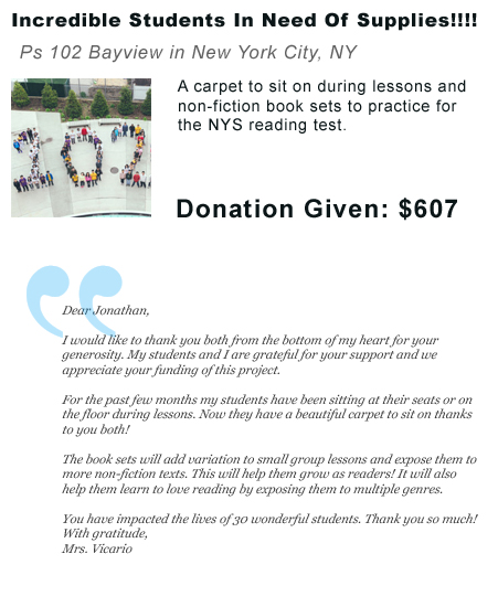 Incredible Students In Need Of Supplies
