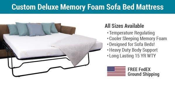 Custom Deluxe CoolMax® Sofa Bed Mattress With Memory Foam