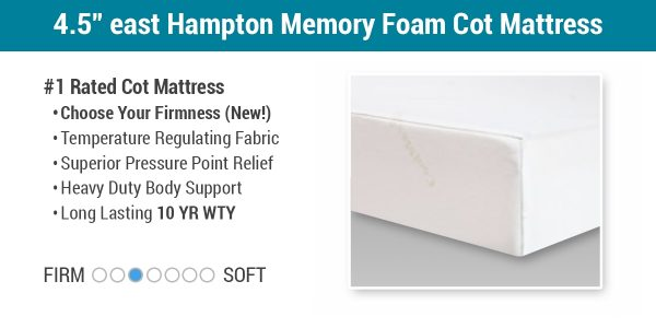 "4.5"" East Hampton Memory Foam Cot Mattress"