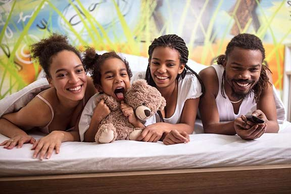 Family Sharing Bed