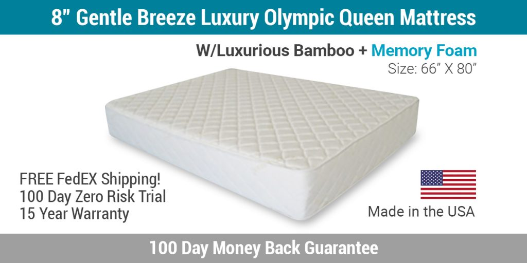 "8"" Gentle Breeze Luxury Olympic Queen Mattress"