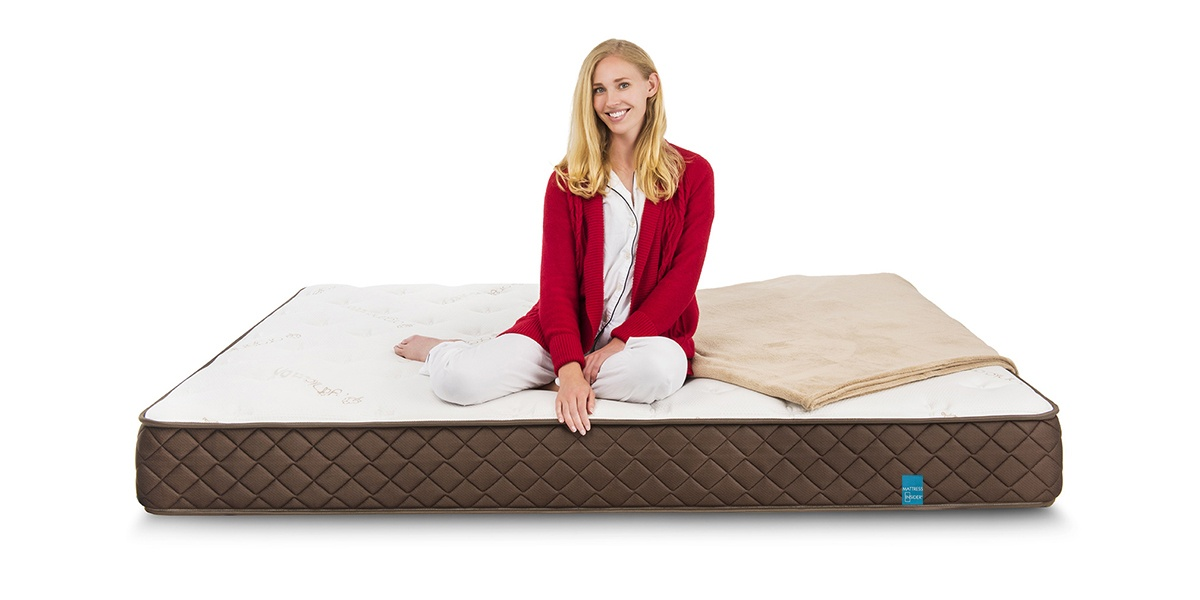 "8"" Park Meadow Pocketed Coil Mattress with model"
