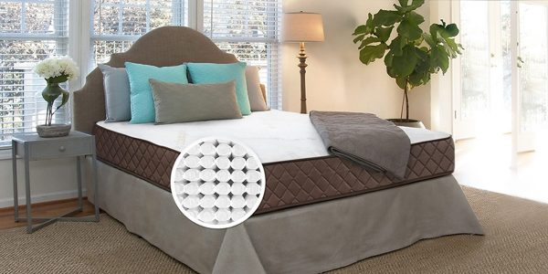 """8"""" Park Meadow Pocketed Coil Mattress on bed frame"""